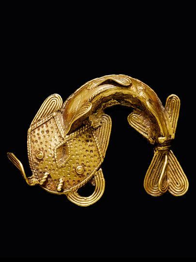 ancientserpent Pendant from the Asante people of Ghana Gold