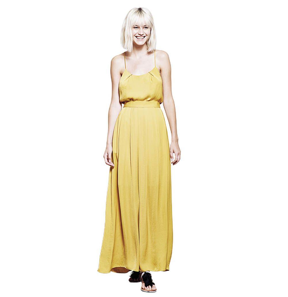 Corey Mustard Maxi Skirt