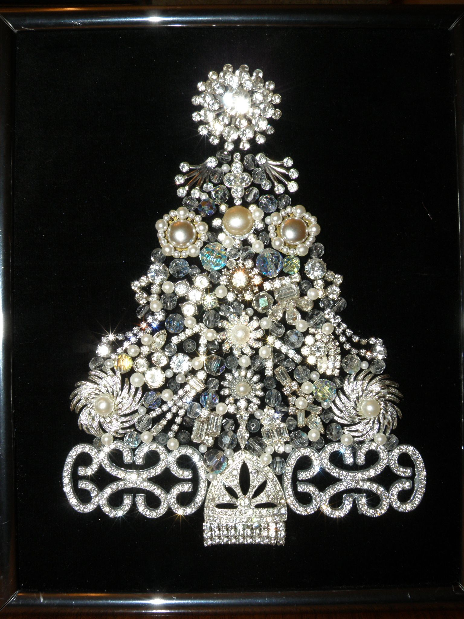 Vintage Jewelry Christmas Tree - Rhinestones Galore | Christmas ...