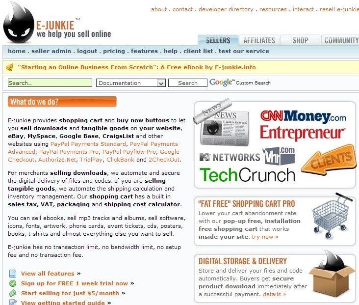 e-junkie  para la venta de mis servicios y productos digitales