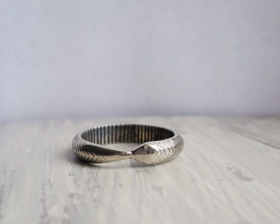 Eternity Serpent Band Ouroborus Snake Wedding by OpenRoadsVintage, $125.00