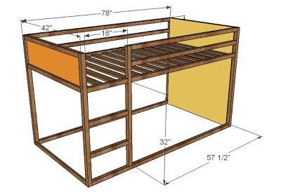 Best How To Build A Fort Bed Low Loft Beds Loft Bed Plans 400 x 300