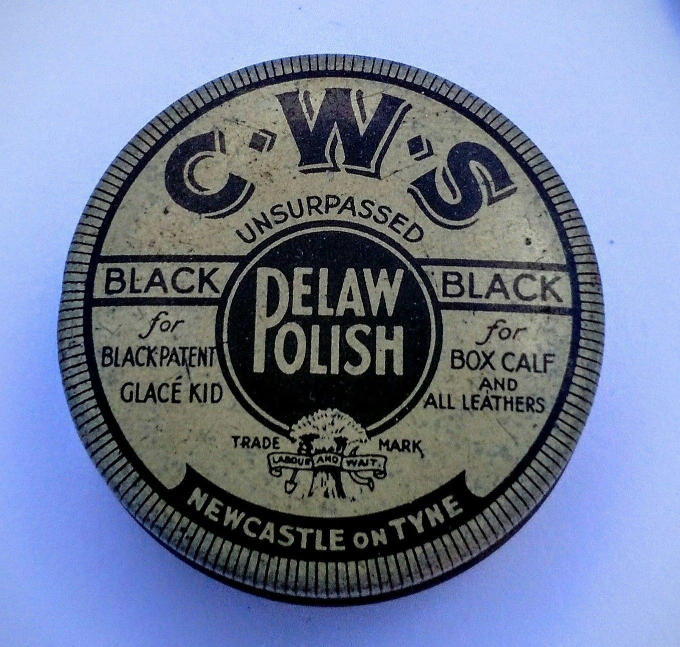Vintage CWS Pelaw Polish Pencil Sharpner miniature advertising tin