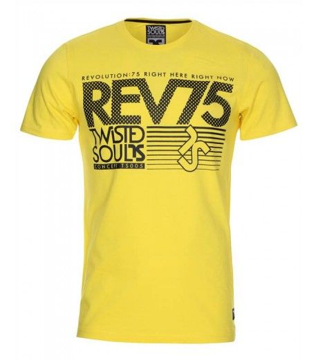 Twisted Soul Magnus T Shirt in Yellow, £12.99