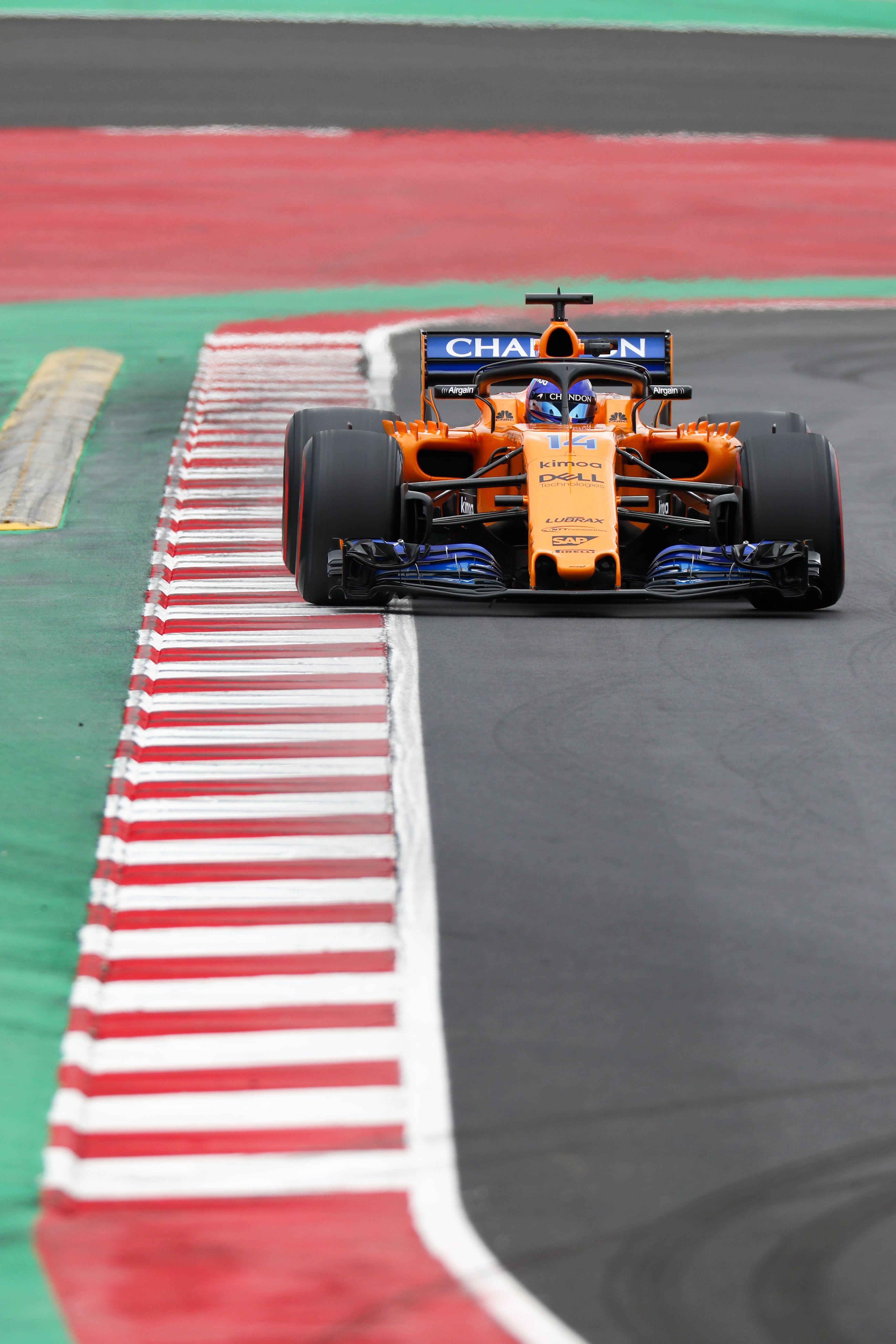 Fernando Alonso at the 2018 Barcelona Test. | race car ...