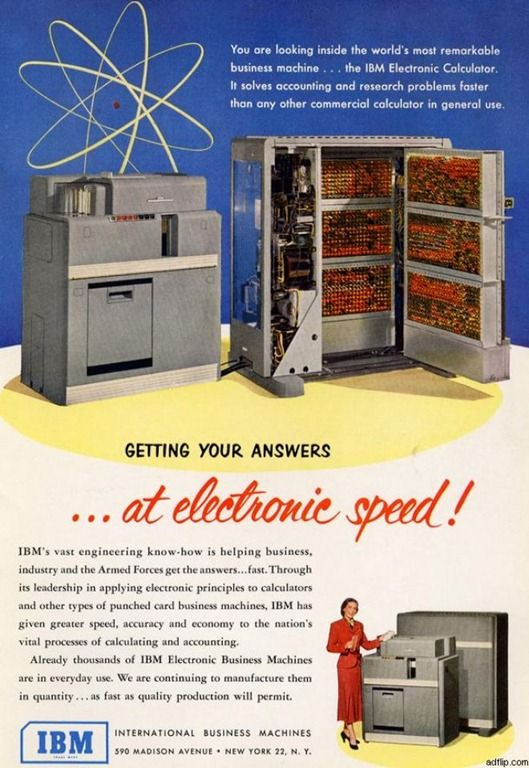 IBM Electronic Calculator Ad (1951).