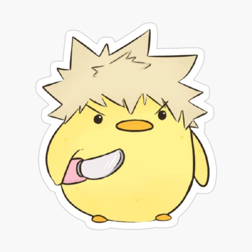 Sticker 'Bakugo Chicks' par RidanBaguette