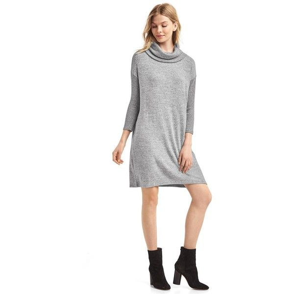 Gap Women Cowl Neck Sweater Dress ($40) ❤ liked on Polyvore ...