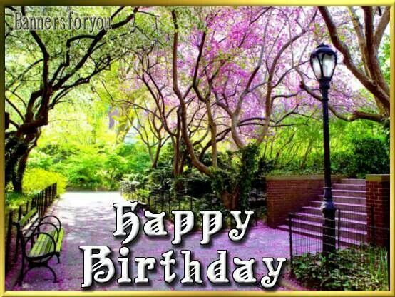 Happy Birthday Spring Conservatory Garden Beautiful Park Green