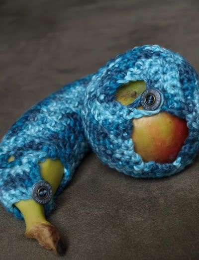 Cozies for your fruit. Helps keep them from bruising in a