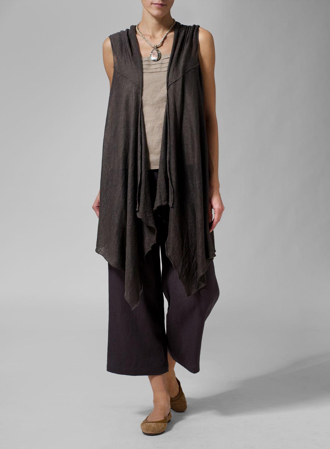 f4a326ecaec Linen Knit Asymmetrical-Front Cardingan