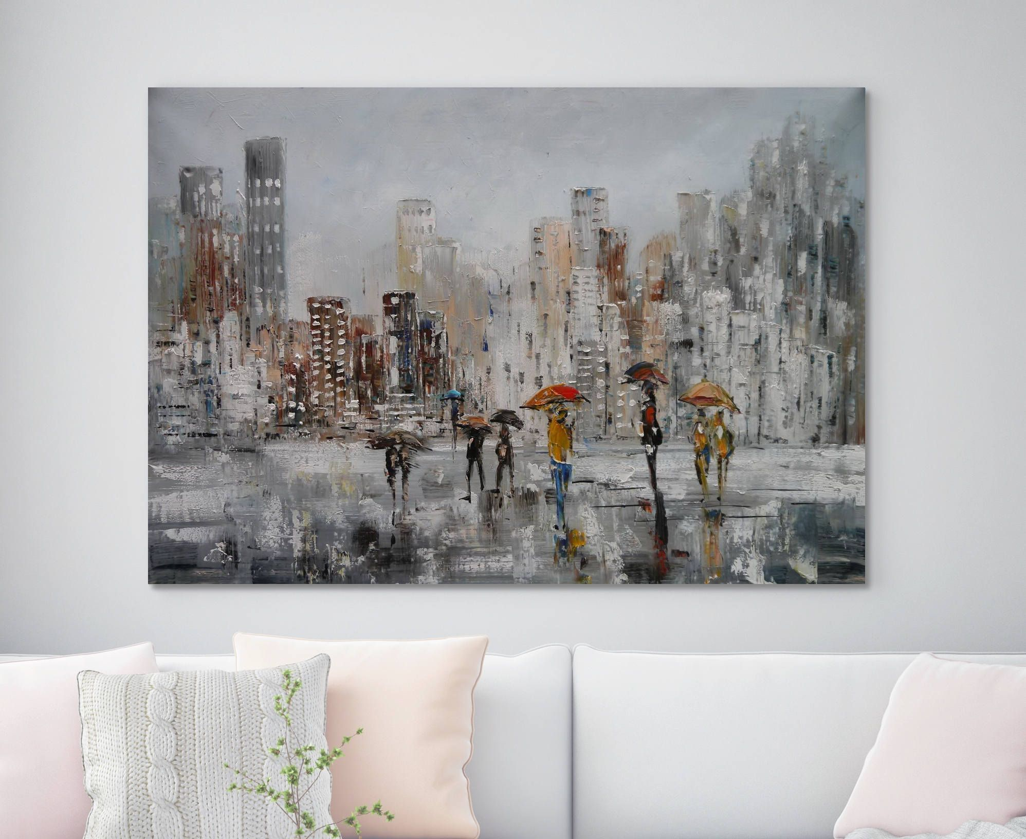 63 Large Street Painting Original Oil Painting Canvas Art