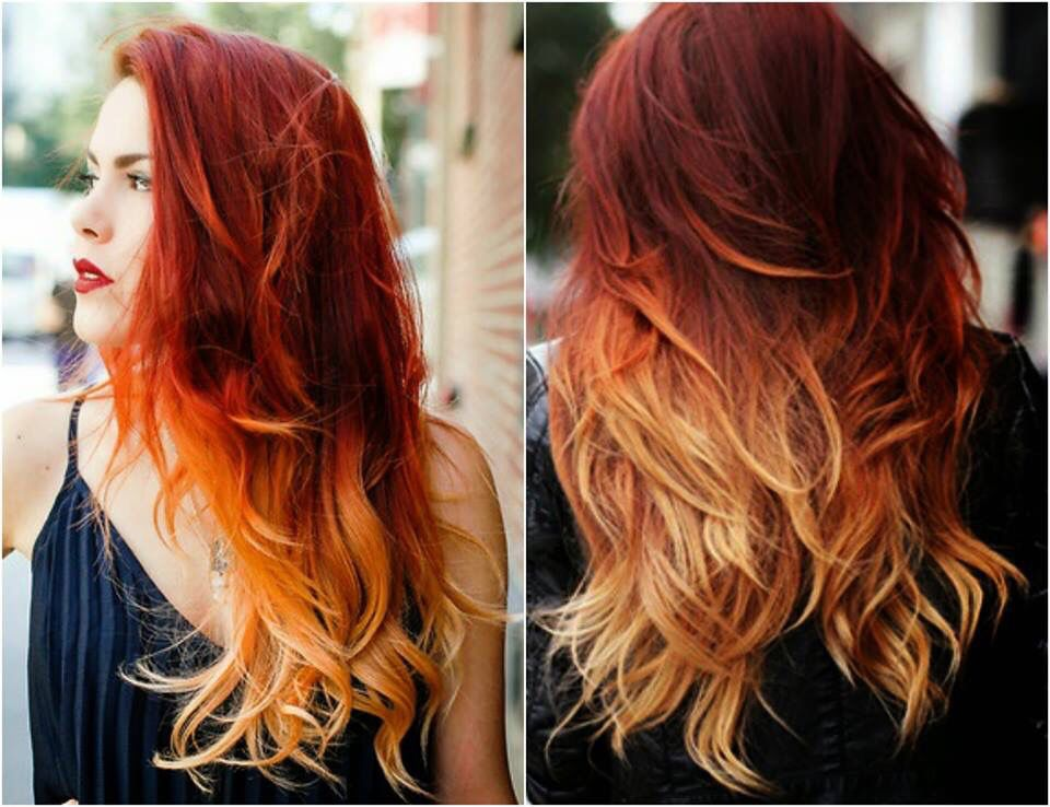 Fire Ombre Hair Hairstyles Pinterest Fire Ombre Hair