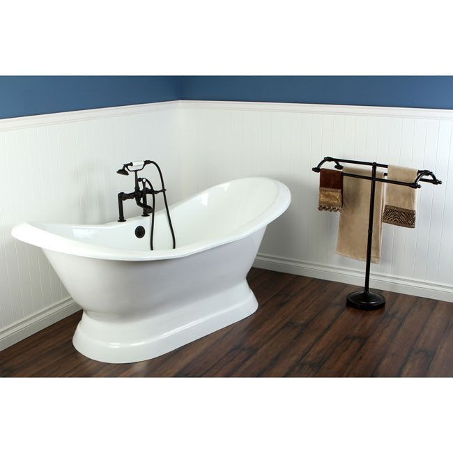 72 Freestanding Tub With Oil Rubbed Bronze Tub Filler Hardware