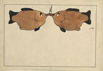 Sans Titre (Deux poissons, un hameçon, un ver)