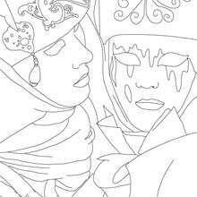 dibujo de caretas de carnaval de venecia para colorear  Dibujos