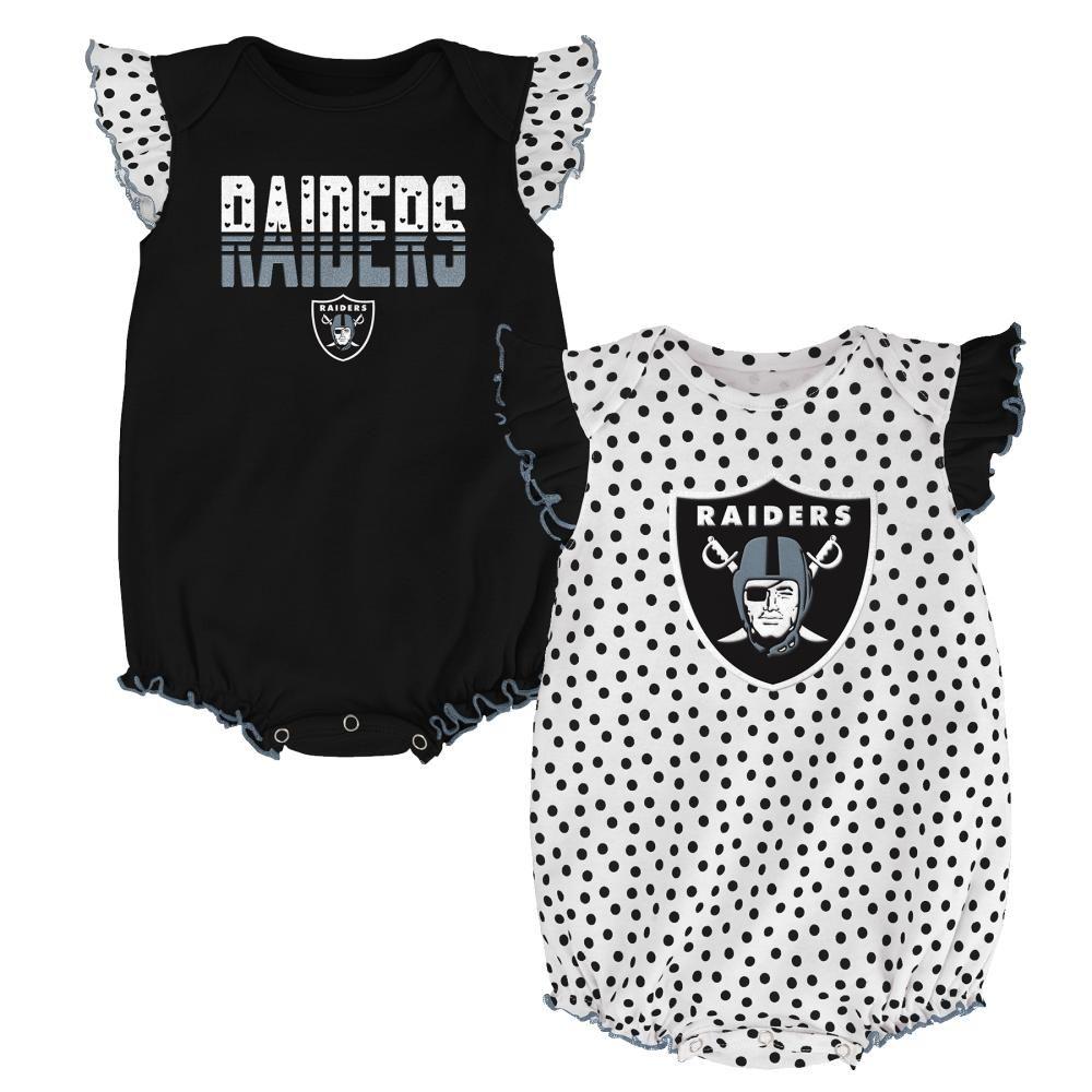 Raiders Baby, Girls Rompers