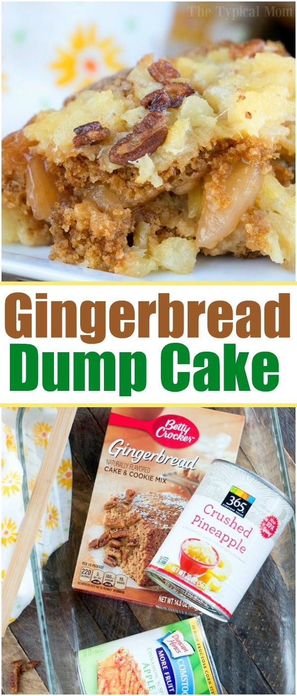 Christmas Flavors.This Gingerbread Dump Cake Is Moist And Delicious With All