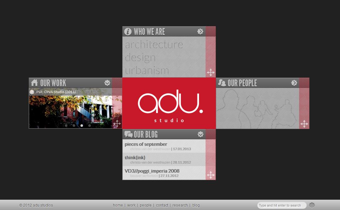 ADU Studio Studio, Home studio, Design