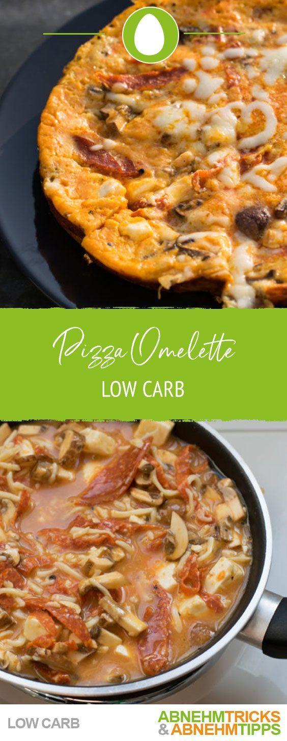 Pizza Omelett  fast ohne Kohlenhydrate