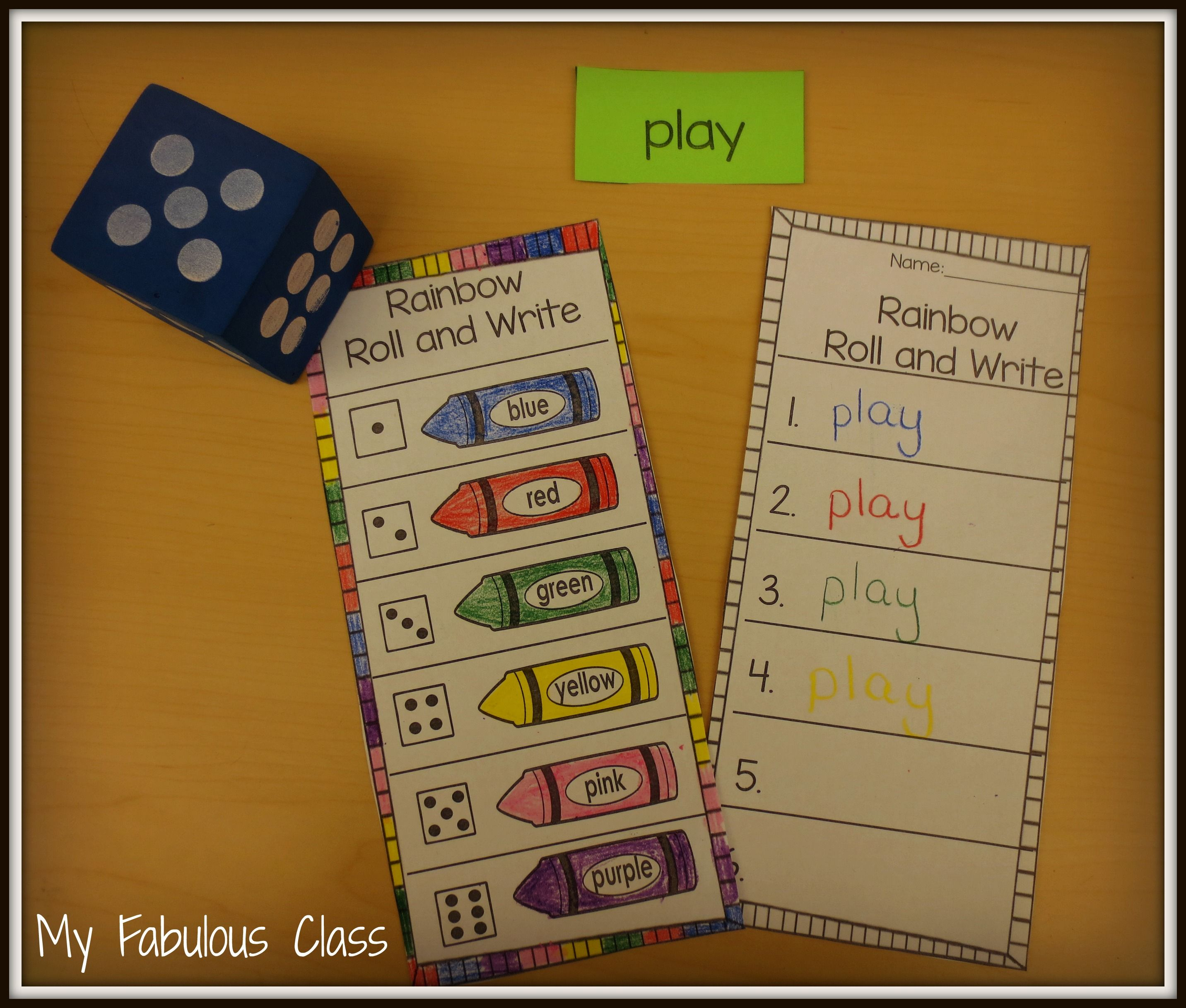 Freebie Sight Word Rainbow Roll And Write Word Work Kindergarten Rainbow Writing Sight Words Kindergarten [ 2434 x 2864 Pixel ]