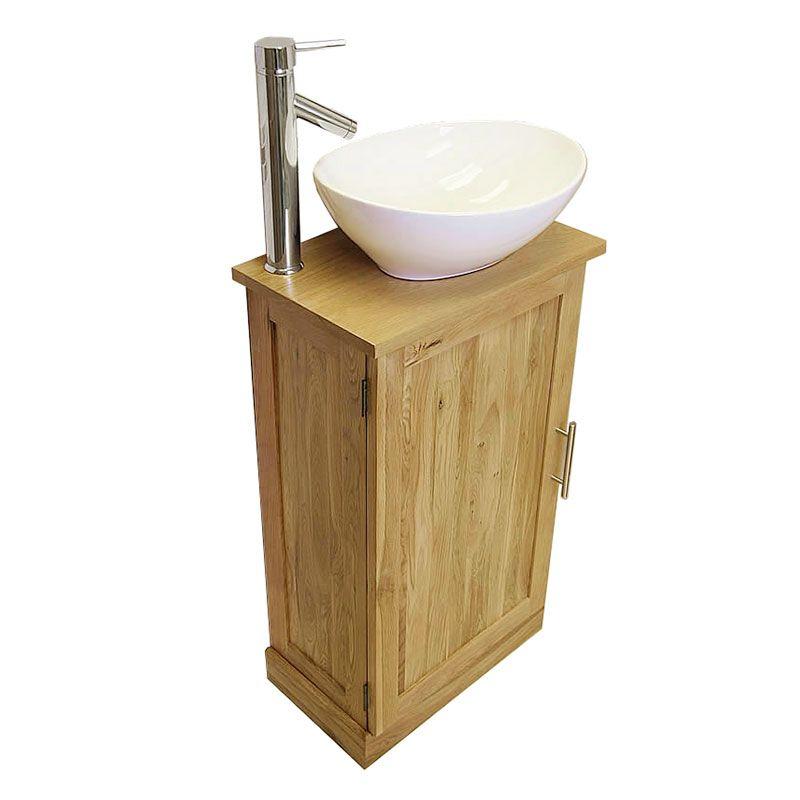 Small Sink And Vanity Unit. Slimline Cloakroom Oak Vanity Unit with Basin  Bathroom Inspire