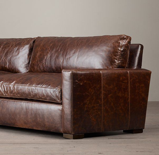 The Petite Maxwell Leather Sofa