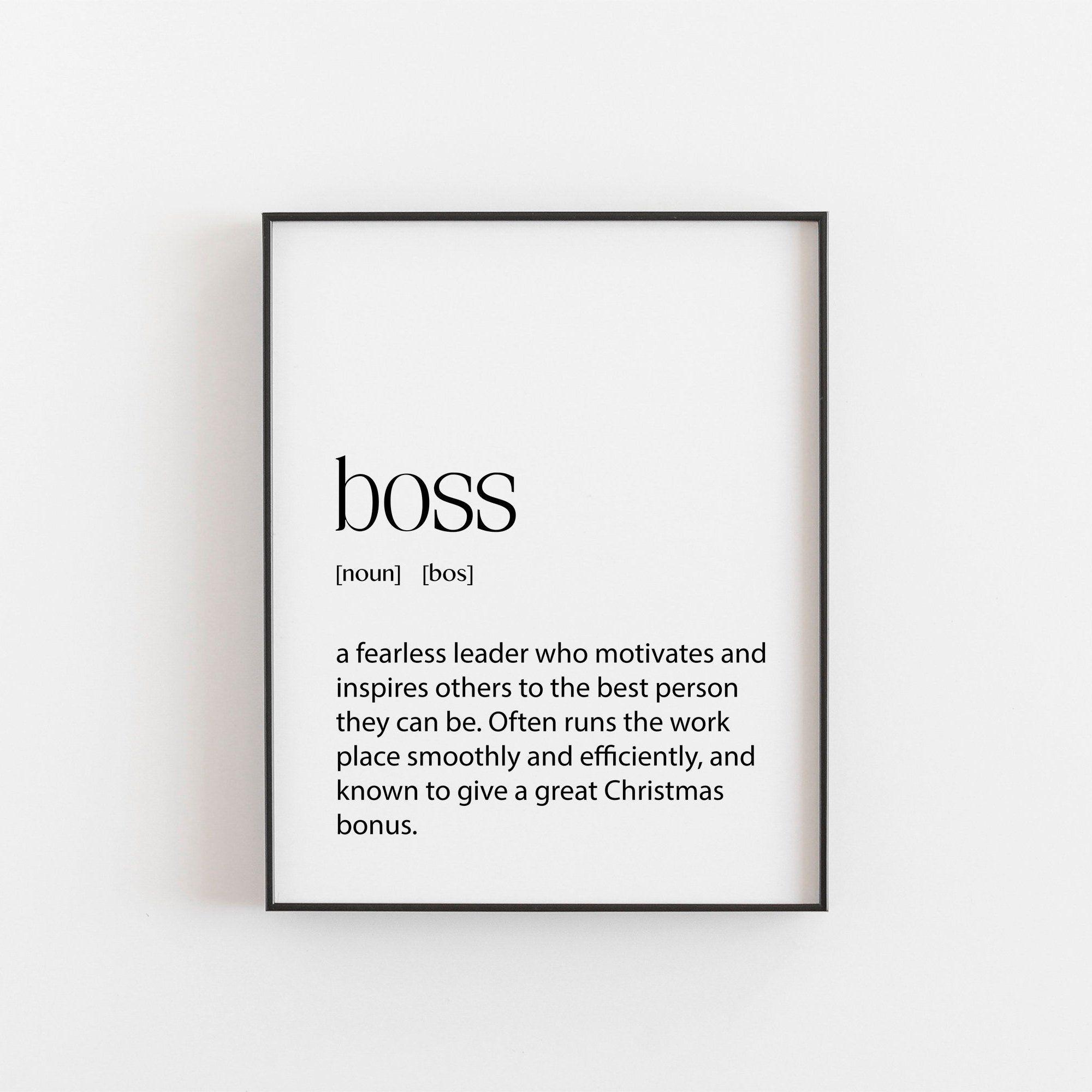 Boss boss gift secret santa gift office printable etsy