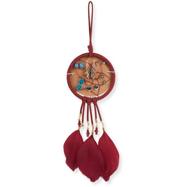 Aeropostale Dreamcatcher Earrings 6-Pack (£5.31) ❤ liked on Polyvore featuring home, home decor, red, boho home decor, red home decor, bohemian home decor and aéropostale