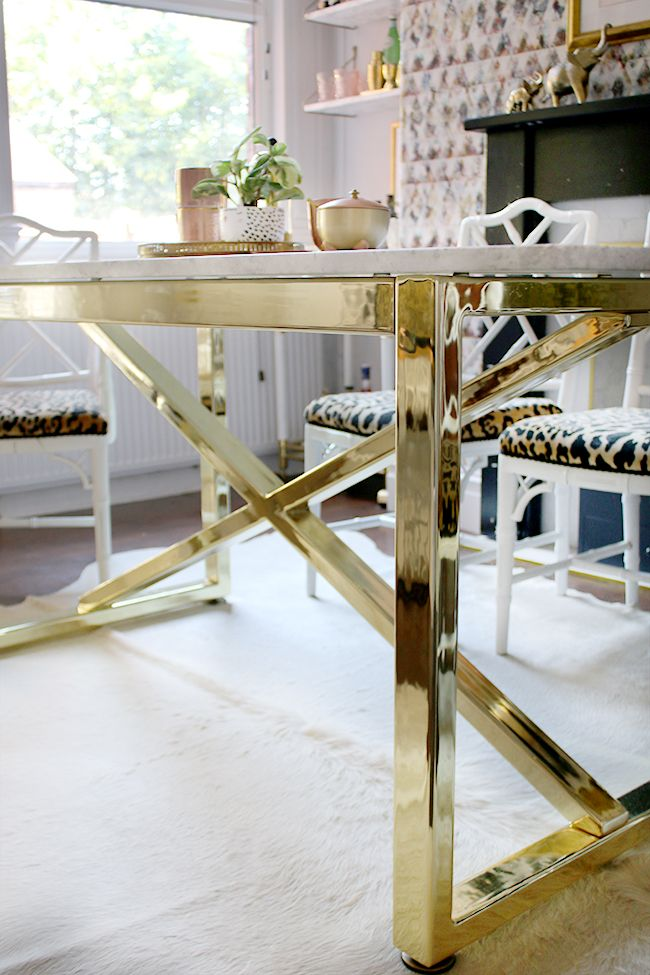 Going Bespoke Marble Brass Dining Room Table Pinterest Marble - Coffee table base for marble top
