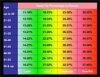 Sample Standard Body Fat Chart  Fitness    Personal