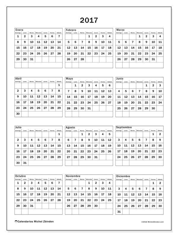 Gratis! Calendarios para 2017 para imprimir | calendario | Pinterest