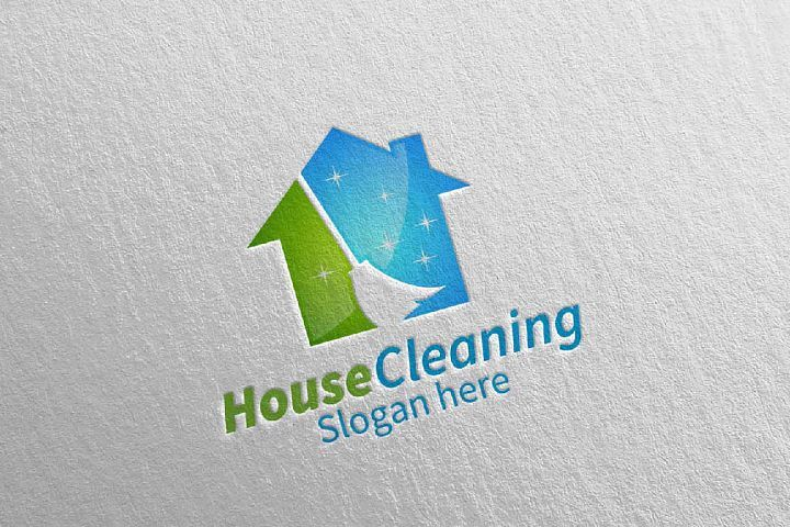 House Cleaning Service Logo Design 69152 Logos Design Bundles Cleaning Service Logo Cleaning Company Logo Cleaning Service