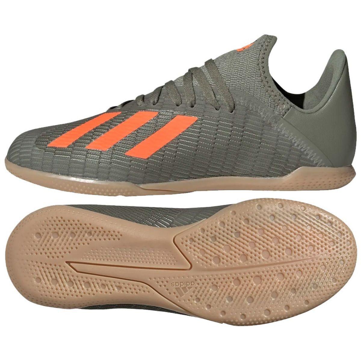 Adidas X 19 3 In Jr Ef8376 Indoor Shoes Grey Gray Silver Indoor Shoe Adidas Shoes