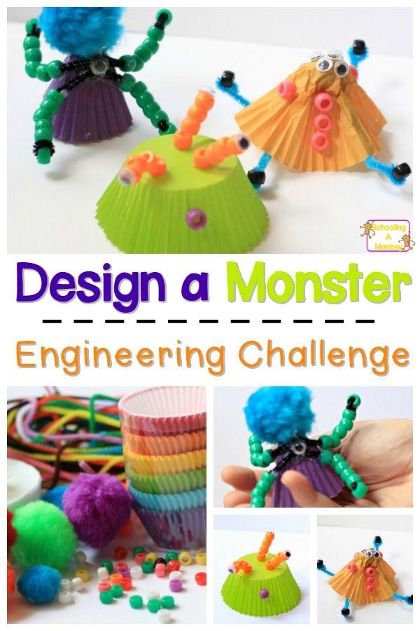 Halloween Engineering Activity Build A Monster Craft Stem