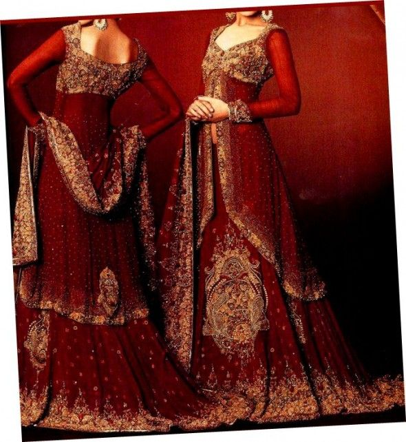 Red Color Bridal Dresses In Pakistan Bridal Fashion Trend
