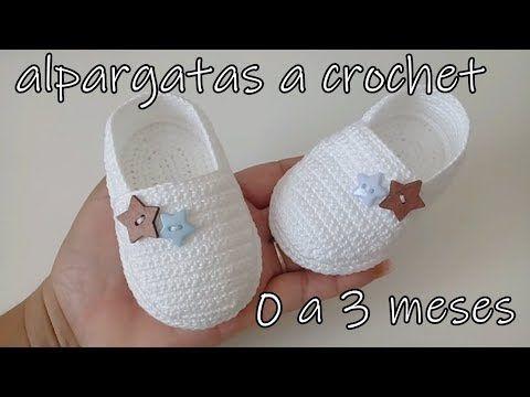 alpargatas a crochet – bebe-0 a 3 meses