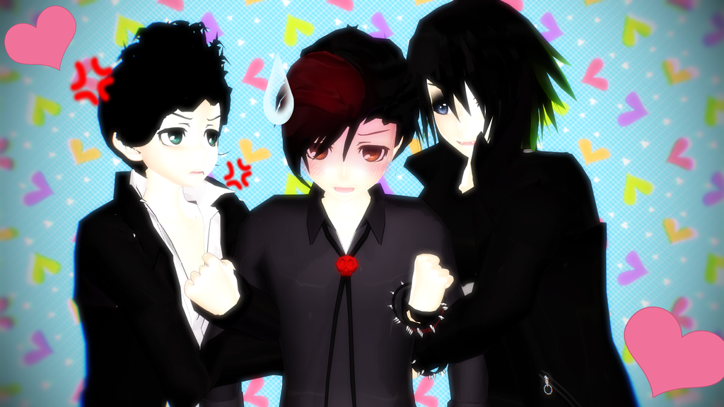 MMD Michael x Pete x Mike? by Inumii | the goths of south