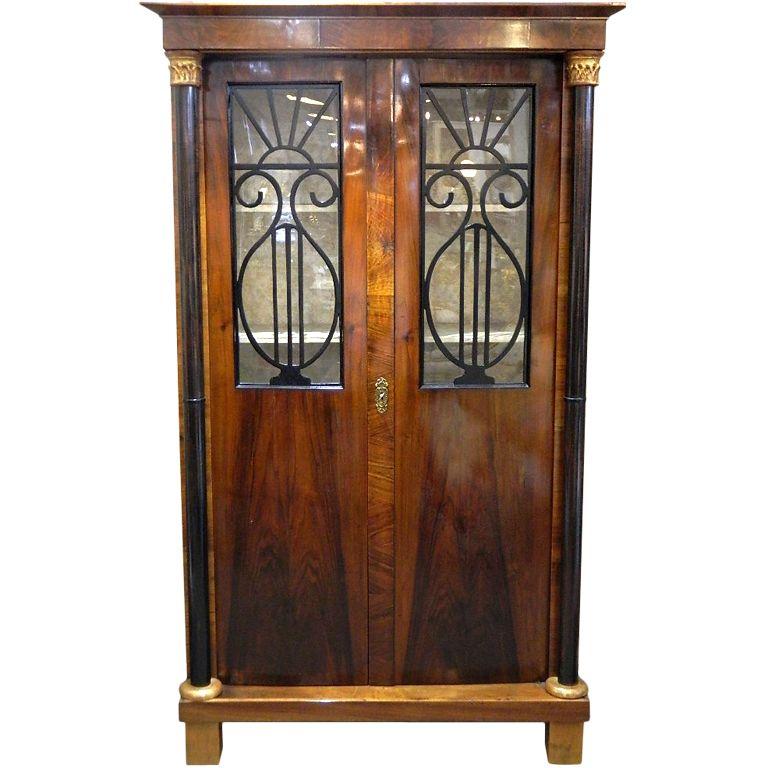 Biedermeier Cabinet | Walnut veneer, Furniture storage and Interiors