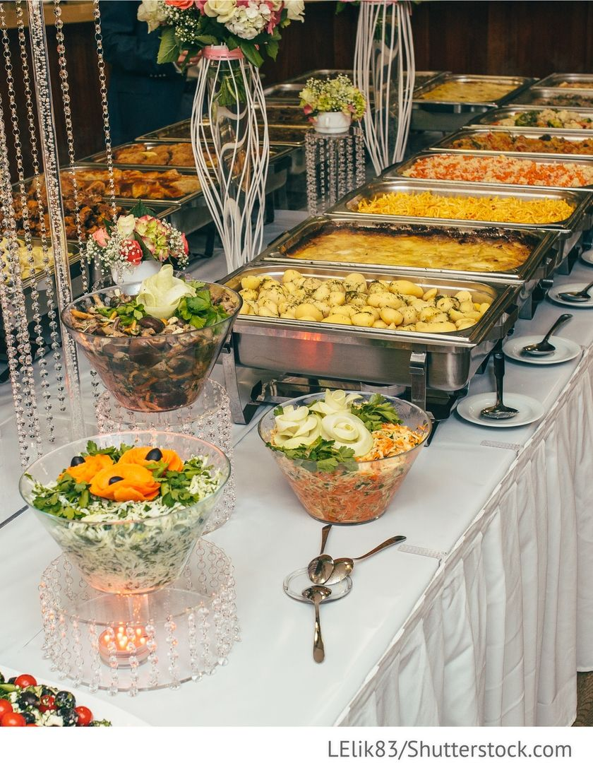 Partyservice Dekoration Buffet fr Hochzeit  Catering und
