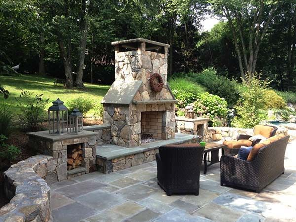 Image result for outdoor fireplace ideas Patio  Grill Pinterest