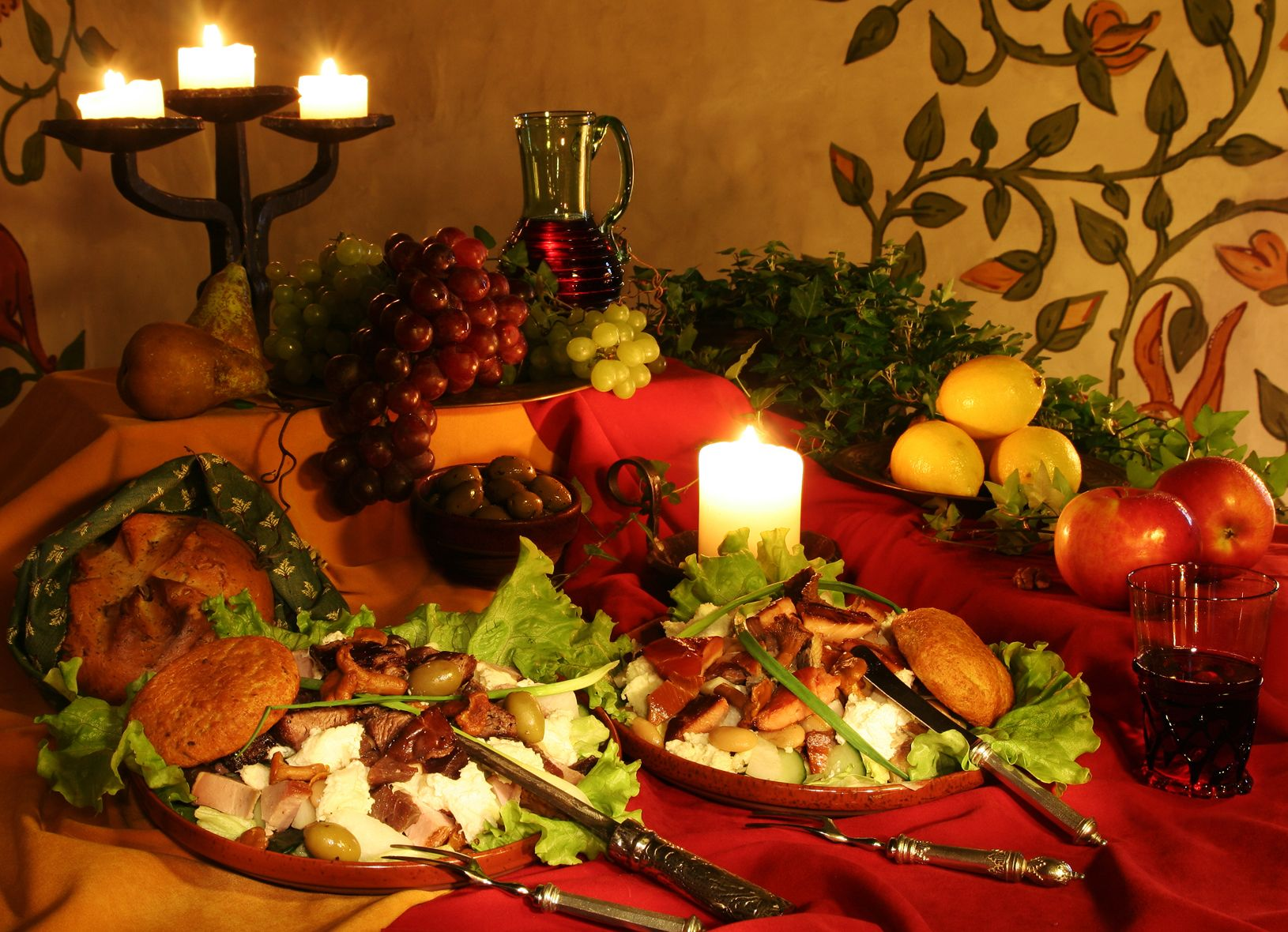 Feasting table spread medieval wedding dream ideas