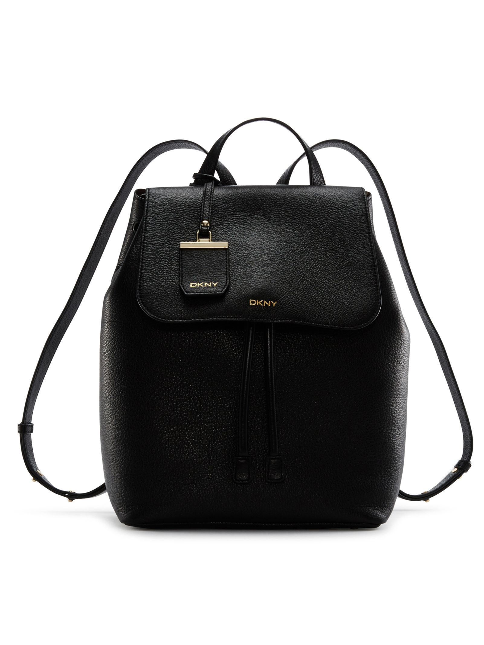 749efc6a3 DKNY: Fine Pebble Leather Backpack, BLACK | Totes and Bags | Leather ...
