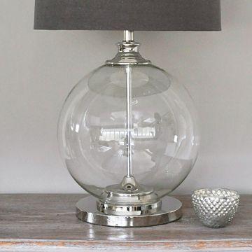 Glass Ball Table Lamp Grey Shade Primrose Plum Grey Table Lamps Clear Glass Table Lamp Lamp