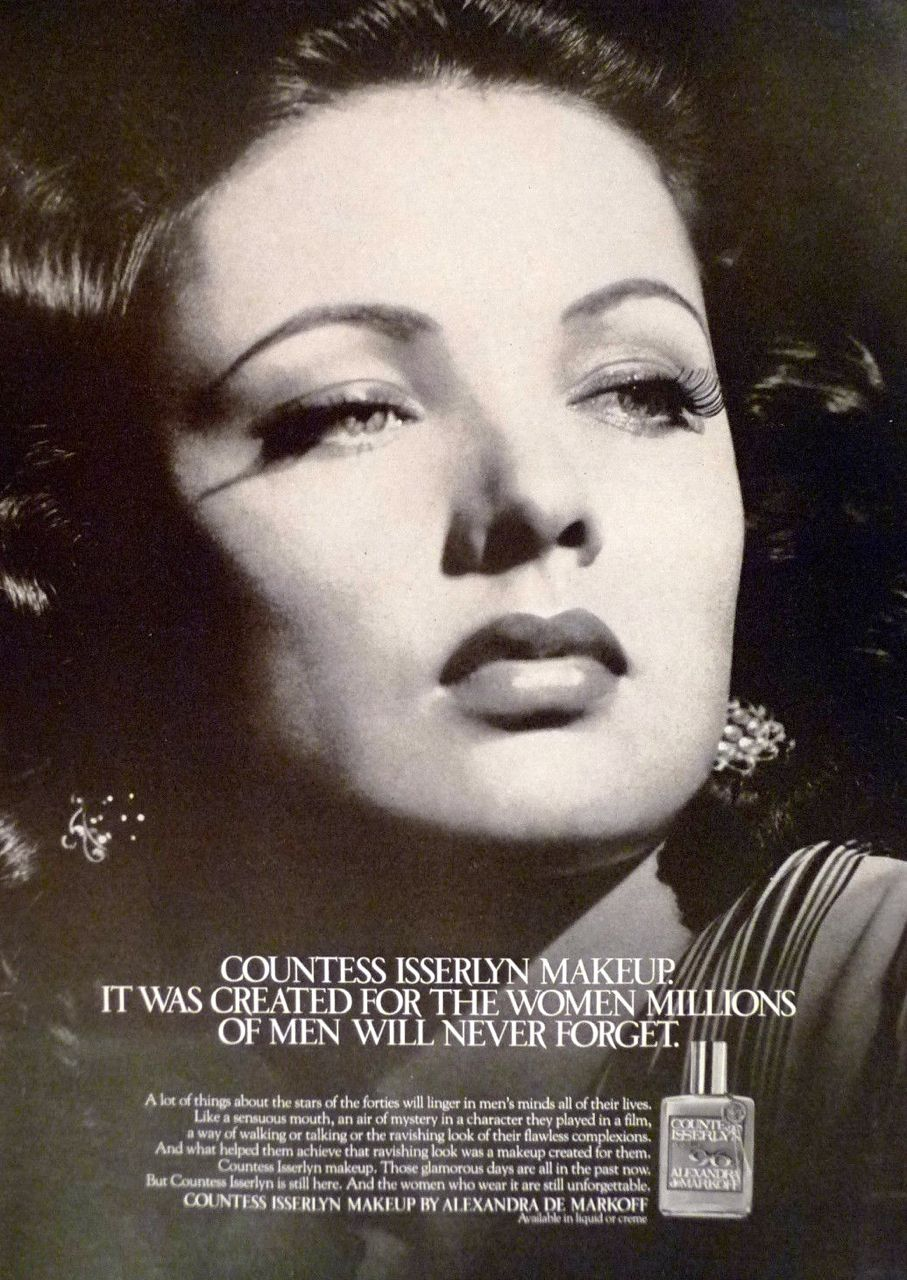 Alexandra Markoff Countess Isserlyn Makeup Ad 1979 Alexandra De