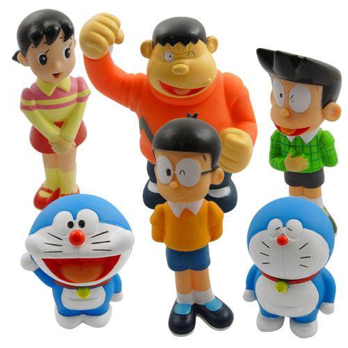 New Doraemon Nobita Shizuka Pvc Figure Set Of 6pc Ebay Doraemon Doraemon Wallpapers Free Coloring