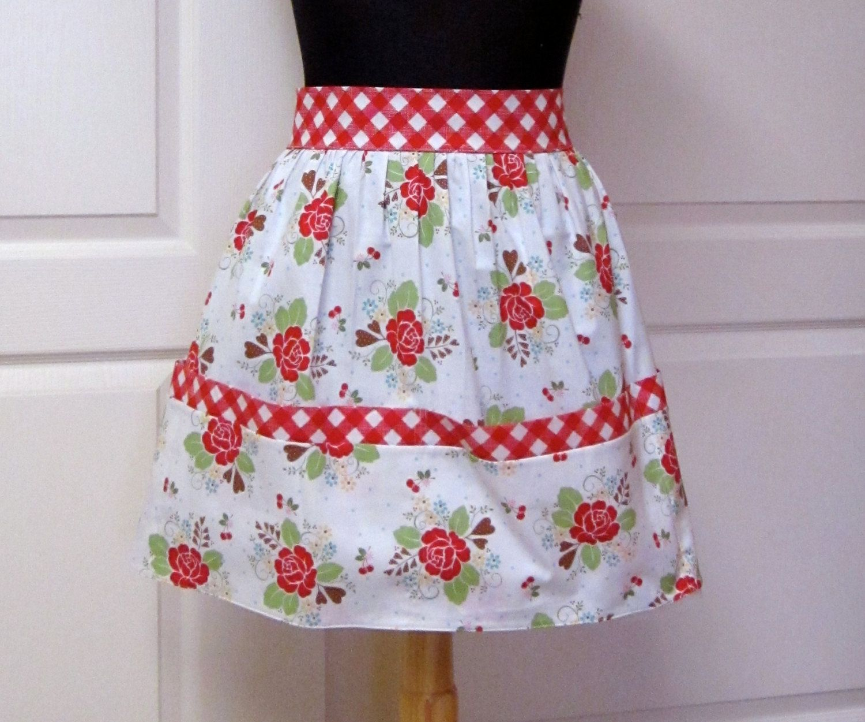 Cute Kitchen Aprons Kraftmaid Vintage Retro Half Apron Red