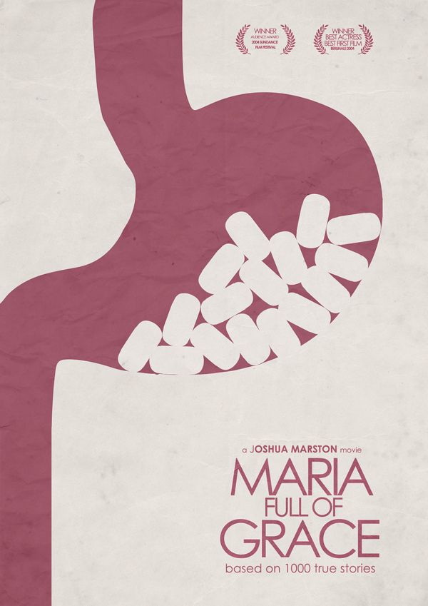 maria full of grace minimal movie poster by stefano reves  maria full of grace 2004 minimal movie poster by stefano reves