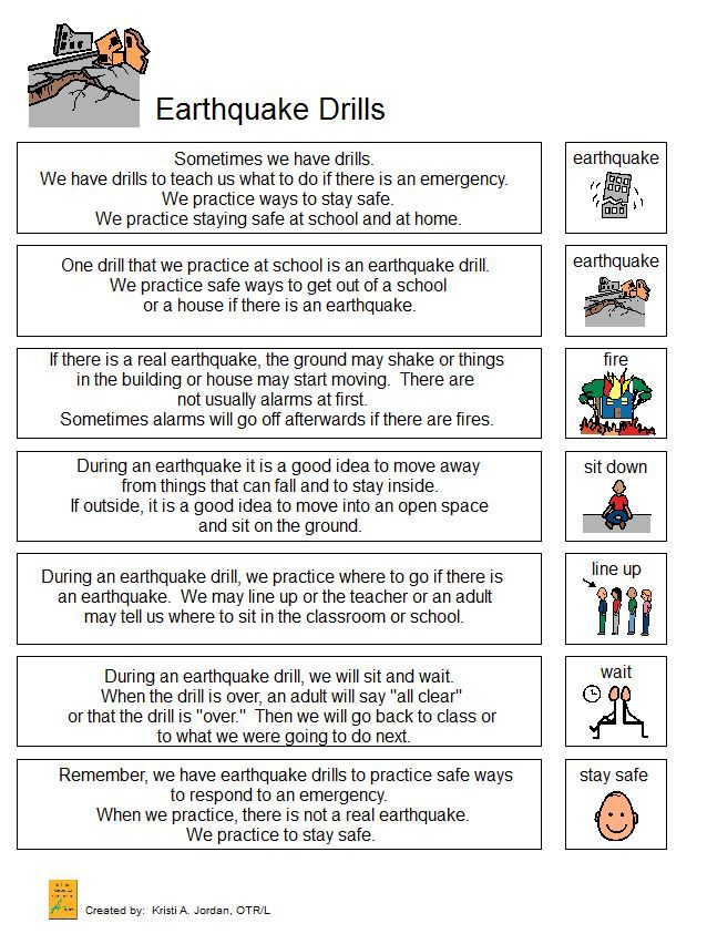 Earthquake Drill Narrative Practice Emergency Drills For