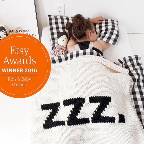 baby decke zzz krippe gr e kinderbett decke hand von. Black Bedroom Furniture Sets. Home Design Ideas